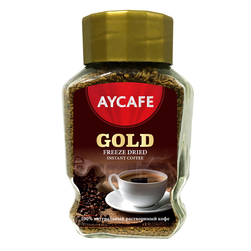 Aycafe Gold 100 gr Instant Coffee In Glass
