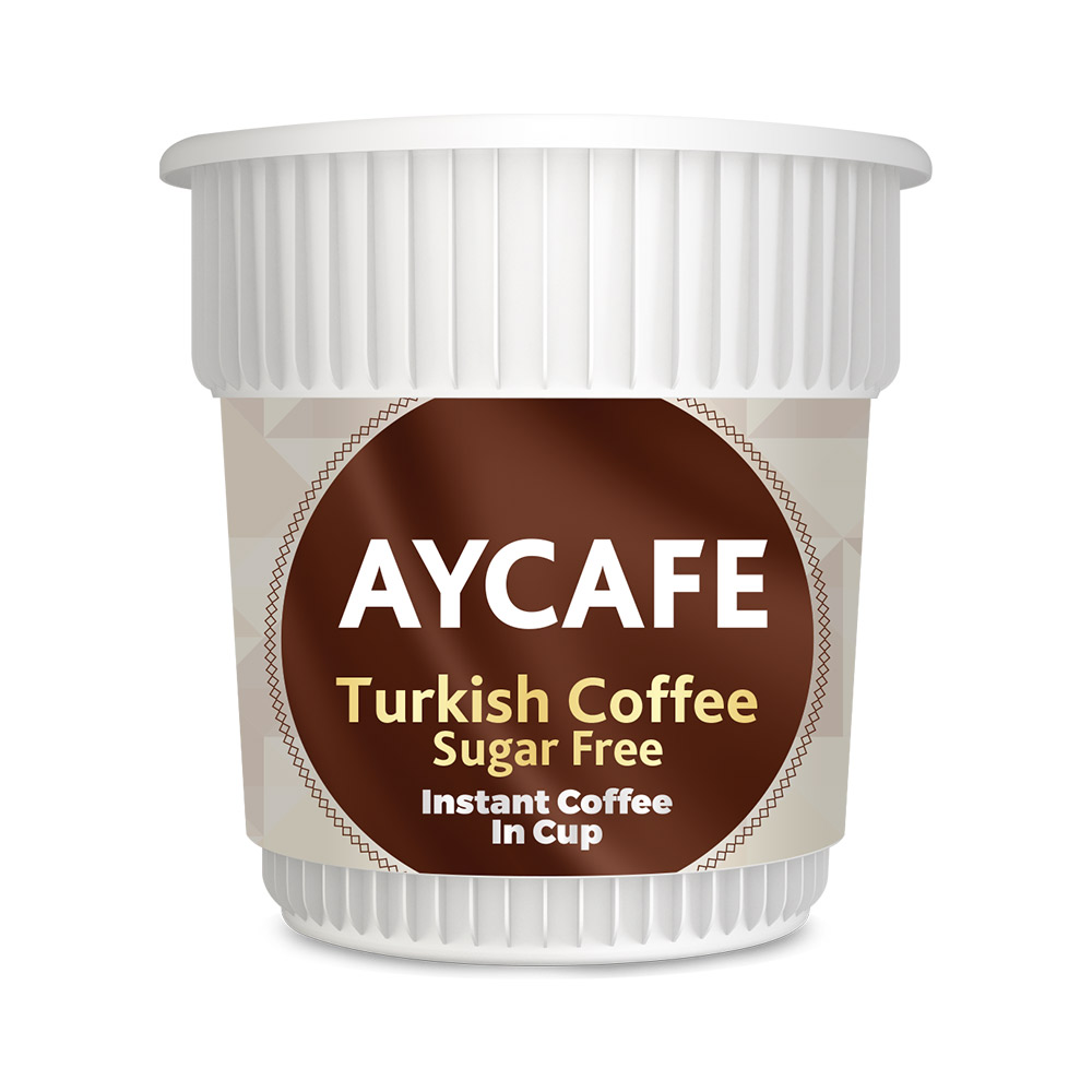 Aycafe Turkish Coffee (Sugar Free) Instant Coffee In Cup