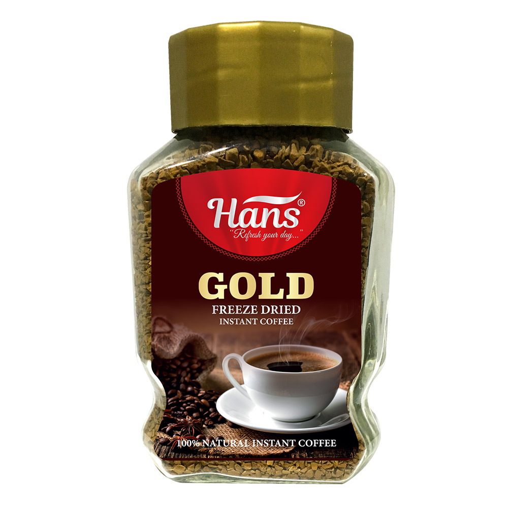 Hans Gold 100 gr Instant Coffee In Glass