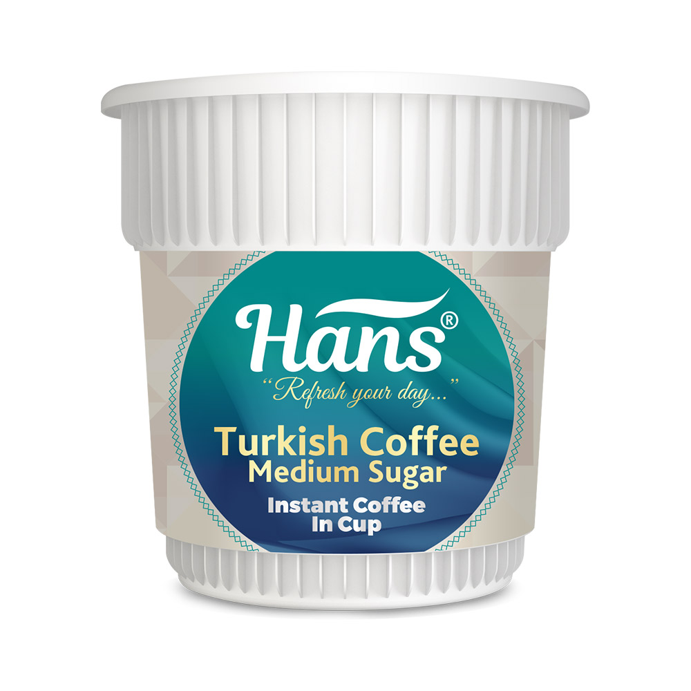 Hans Turkish Coffee (Medium Sugar) Instant Coffee In Cup
