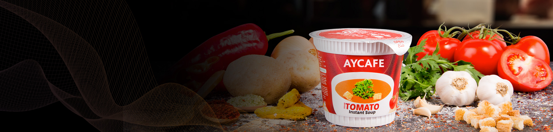 Aycafe Tomato Instant Soup In Cup