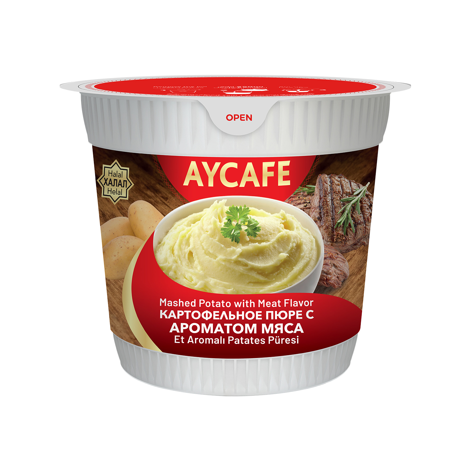 Aycafe Mashed Potato with Meat Flavor